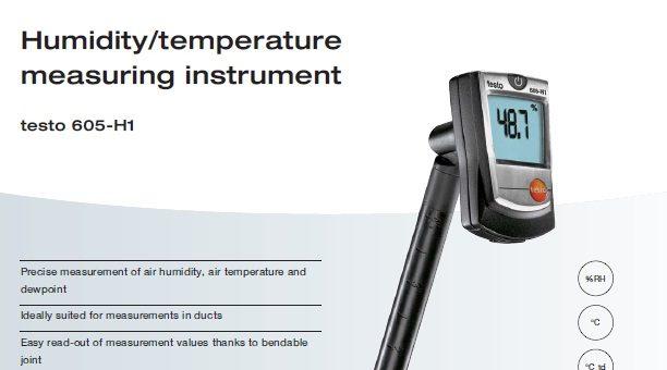 Testo Thermohygrometer (Thermometer & Humidity)
