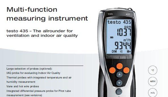 Testo Multifunction Measuring Instrument for Ventilation & Indoor Air Quality