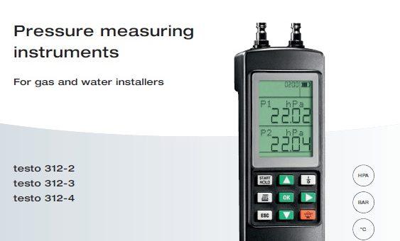 Testo Pressure Tester for Gas & Water Installer